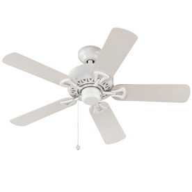 Harbor Breeze Calera 42-in White Outdoor Downrod Mount Ceiling Fan