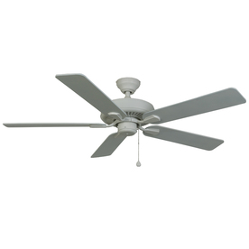 Harbor Breeze Classic 52-in White Outdoor Downrod or Flush Mount Ceiling Fan ENERGY STAR