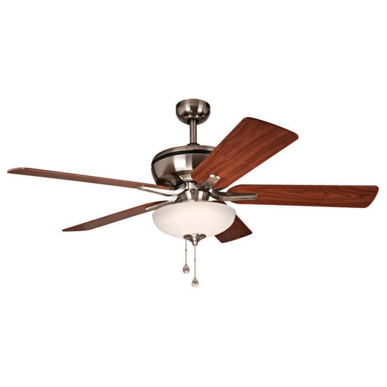 Harbor Breeze Eco Breeze 52-in Brushed Nickel Downrod Mount Ceiling Fan with LED Light Kit