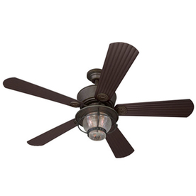 Harbor Breeze Merrimack 52-in Antique Bronze Outdoor Downrod or Flush Mount Ceiling Fan with Light Kit and Remote Control