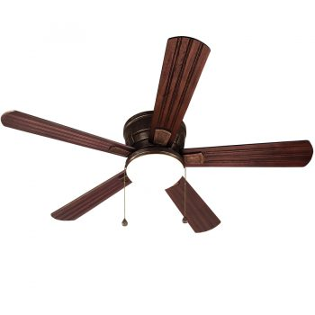Harbor Breeze Oceanside 52-in Oil Rubbed Bronze Flush Mount Indoor/Outdoor Ceiling Fan