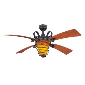 Harbor Breeze Quimby 52-in Aged Bronze Downrod Mount Indoor Ceiling Fan