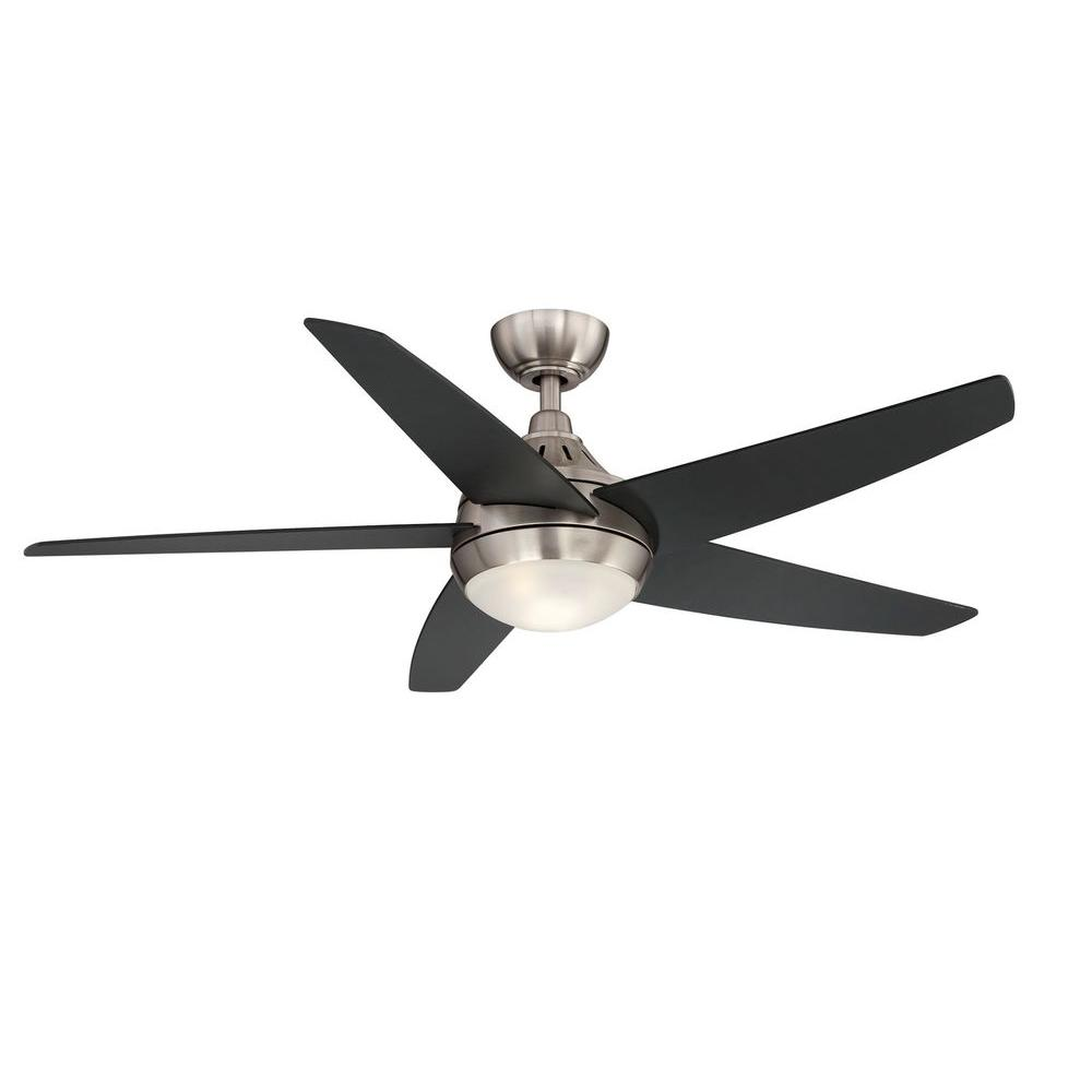 Hampton Bay Etris LED Brushed Nickel Ceiling Fan Manual