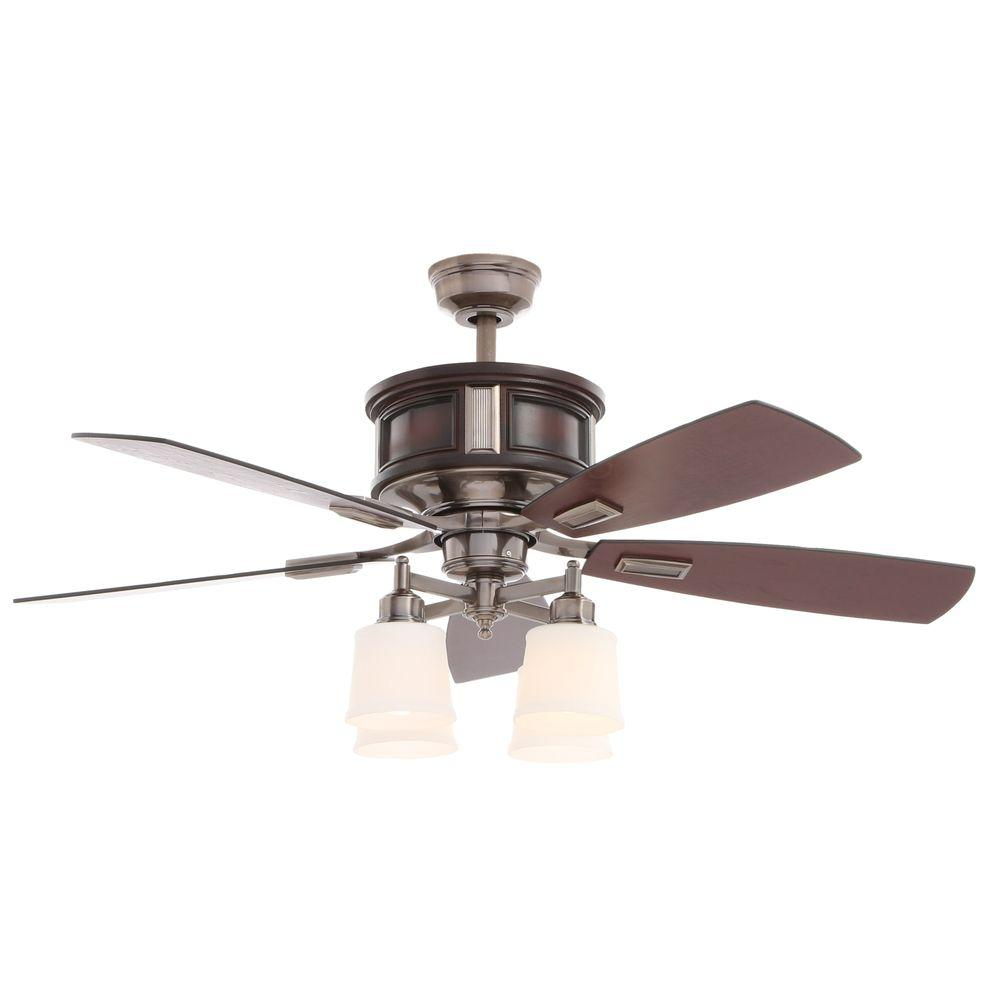 Hampton Bay Garrison Gunmetal Ceiling Fan Manual Ceiling