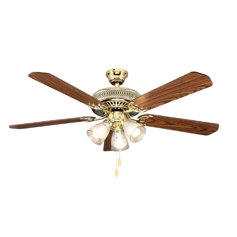 Hampton Bay Landmark Plus 52 in. Polished Brass Ceiling Fan Manual 7