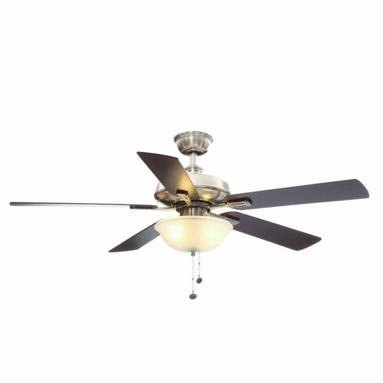 Hampton Bay Larson Brushed Nickel Ceiling Fan Manual 1