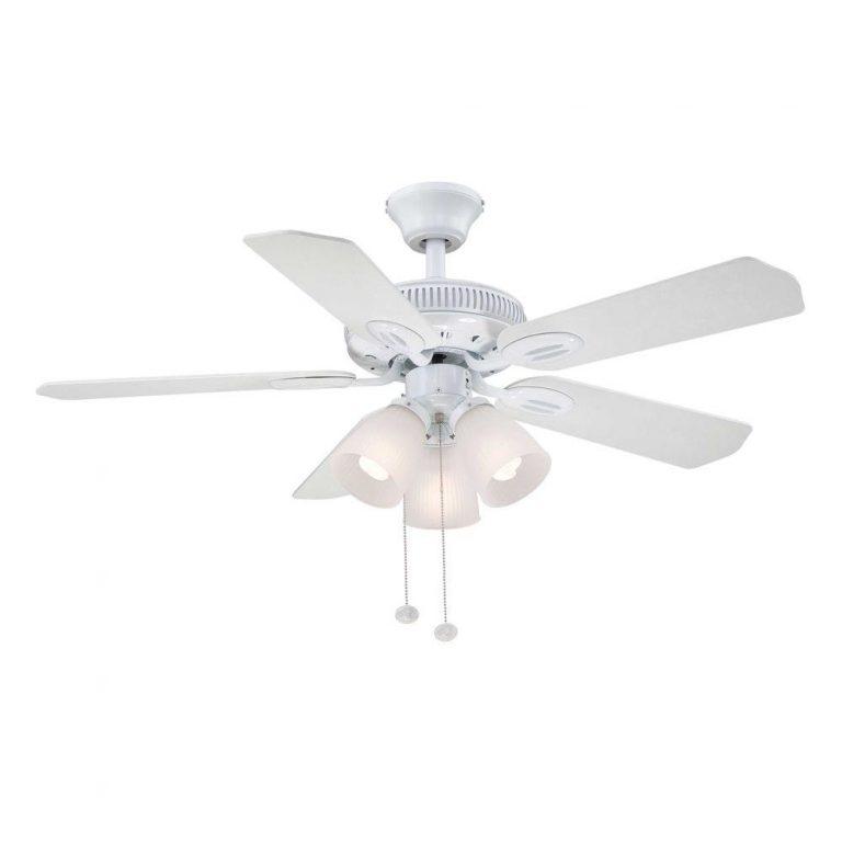 Hampton Bay Glendale White Ceiling Fan Manual Ceiling