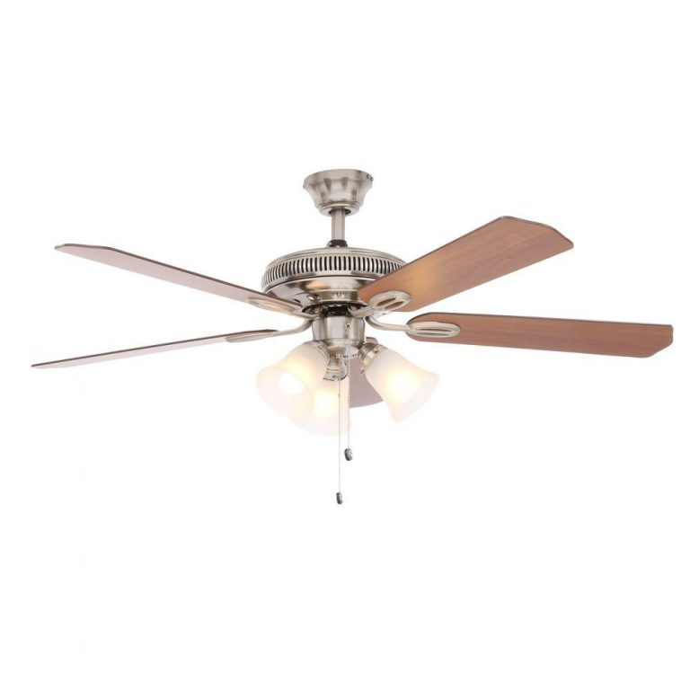 Hampton Bay Glendale Brushed Nickel Ceiling Fan Manual 1