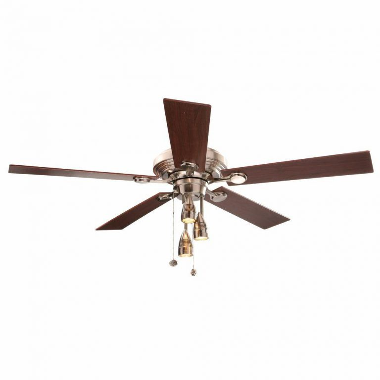 Hampton Bay Irondale 52 in. Brushed Nickel Ceiling Fan Manual 1