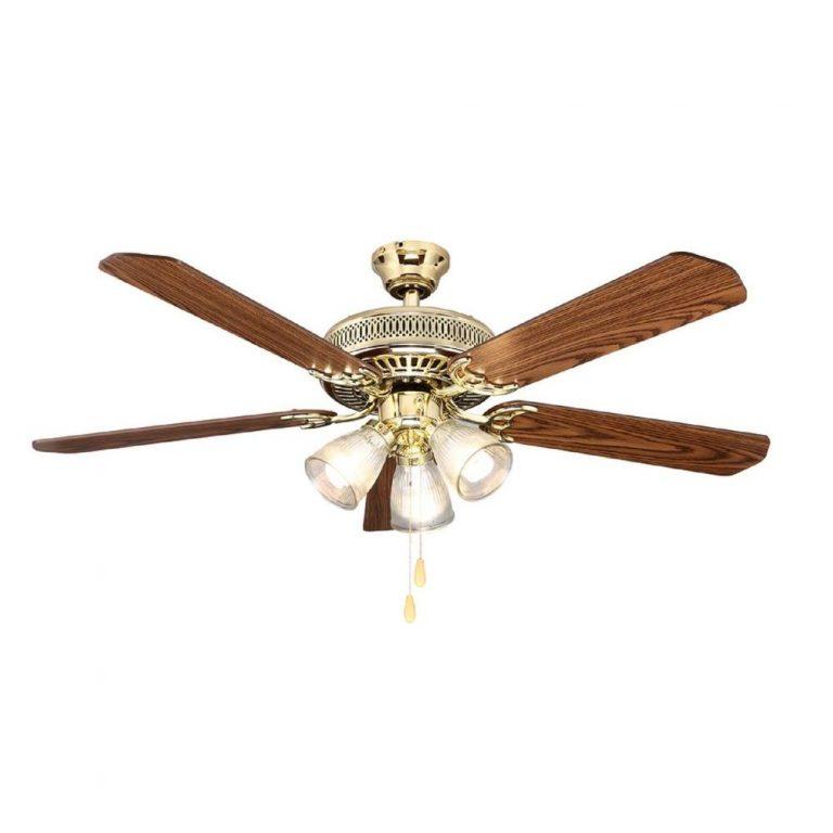 Hampton Bay Landmark Plus 52 in. Polished Brass Ceiling Fan Manual 1