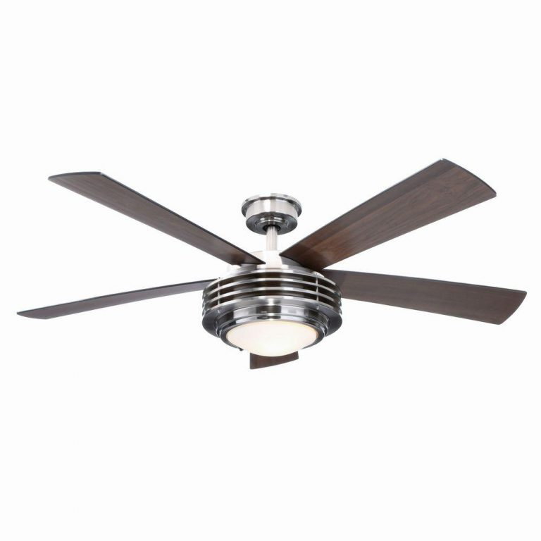 Hampton Bay Mondrian Brushed Nickel Ceiling Fan Manual 1