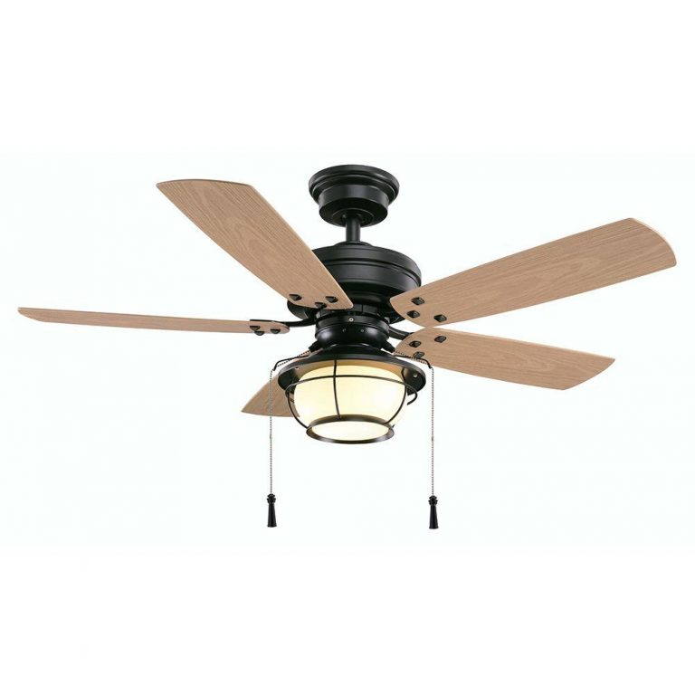 Hampton Bay North Shoreline Natural Iron Indoor Outdoor Ceiling Fan With Light Kit Manual