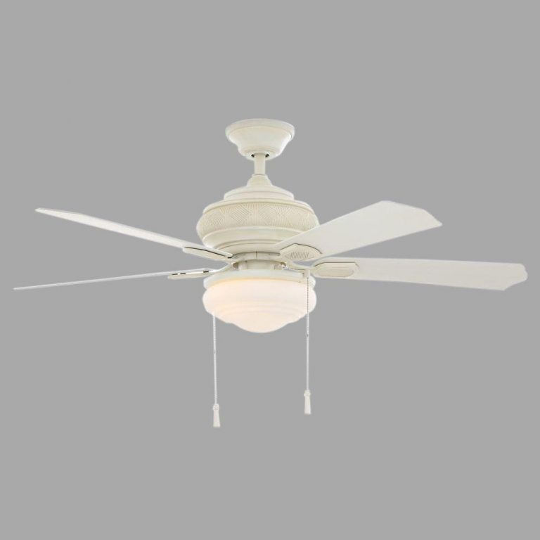 Hampton Bay Portsmouth Outdoor Vintage White Ceiling Fan Manual 1