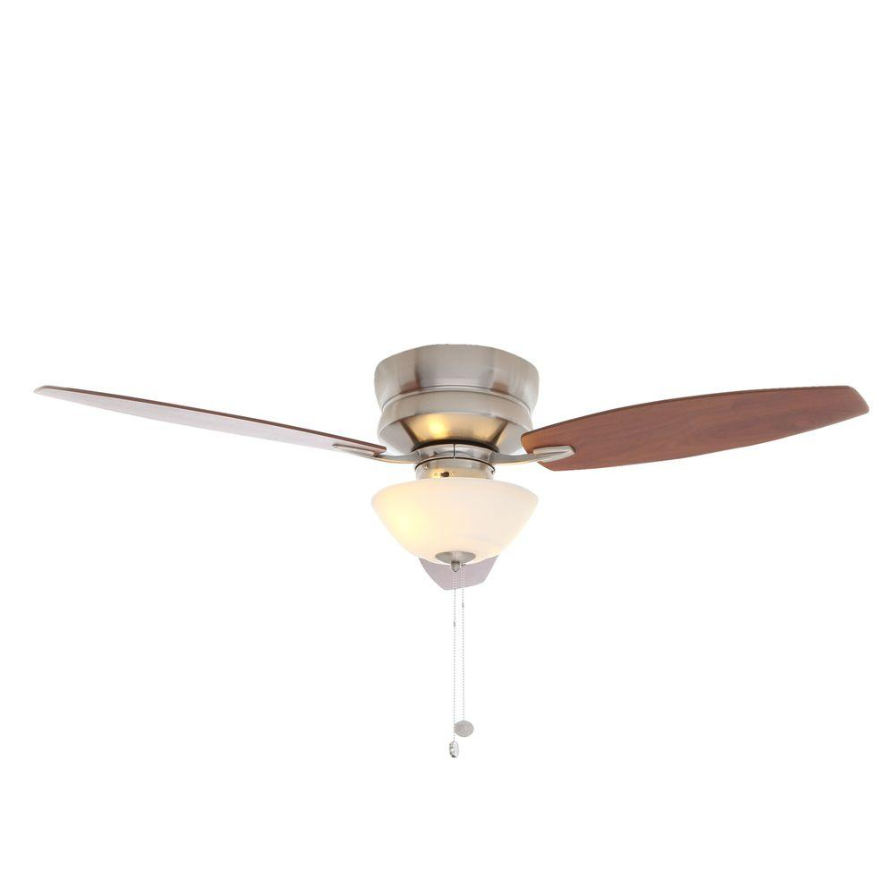 Hampton Bay Rapallo Brushed Nickel Ceiling Fan Manual 1