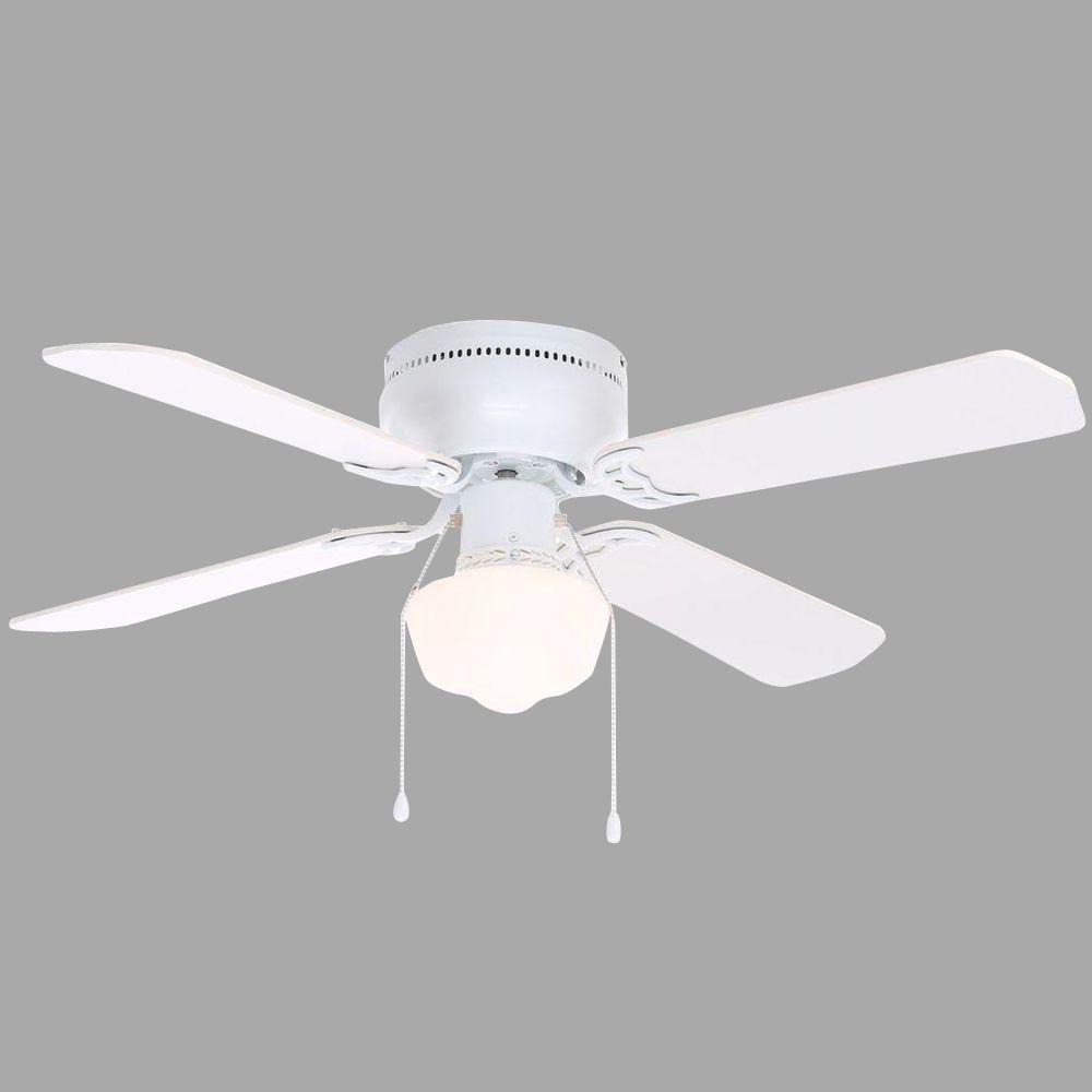 Hampton Bay Littleton White Ceiling Fan Manual Ceiling