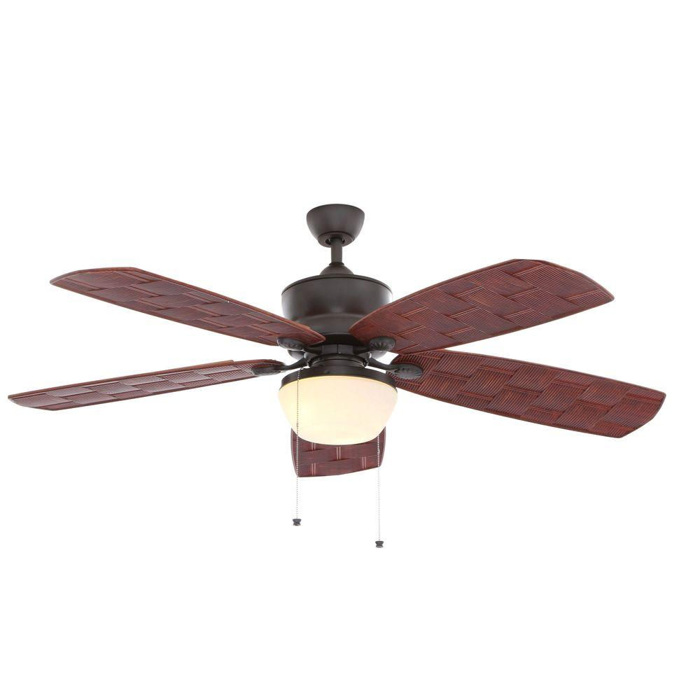 Hampton Bay Rocio Natural Iron Indoor Outdoor Ceiling Fan