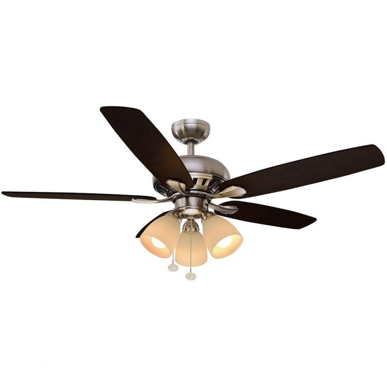 Hampton Bay Rockport LED Brushed Nickel Ceiling Fan Manual 1