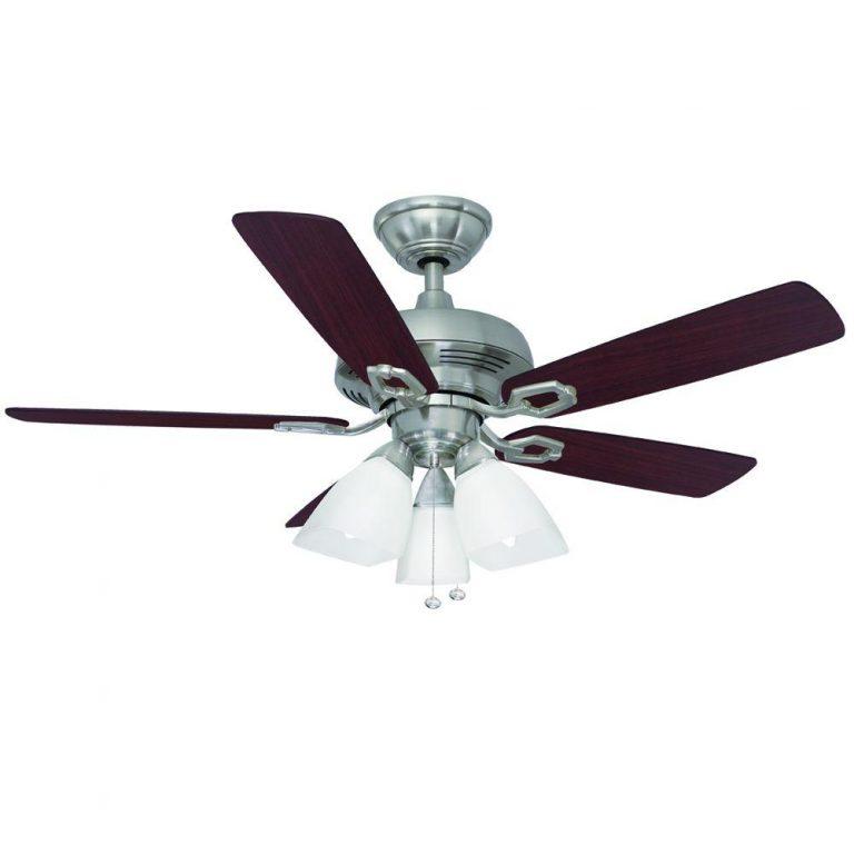 Hampton Bay Saint David Brushed Nickel Ceiling Fan Manual 1