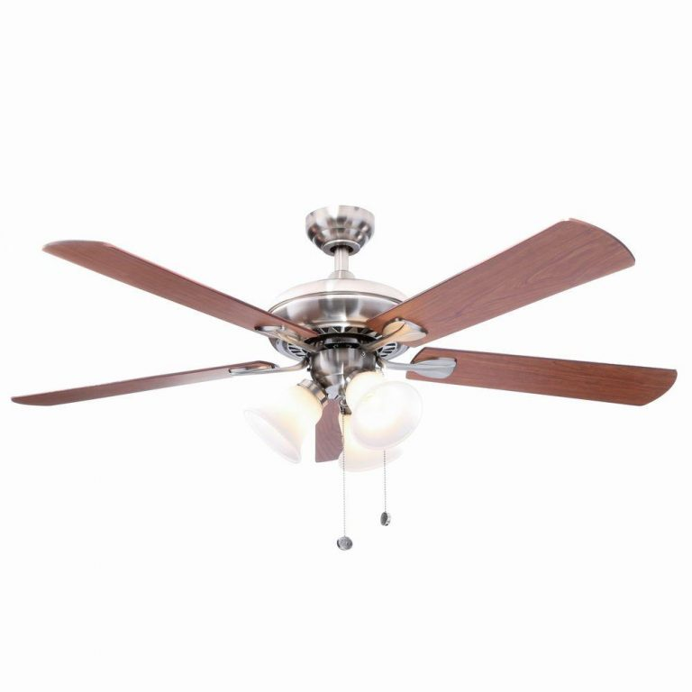 Hampton Bay Scottsdale Indoor Brushed Nickel Ceiling Fan Manual 1