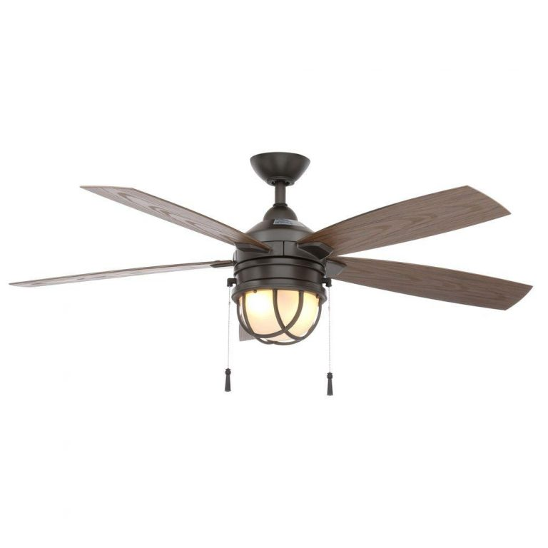 Hampton Bay Seaport Indoor/Outdoor Natural Iron Ceiling Fan Manual 1