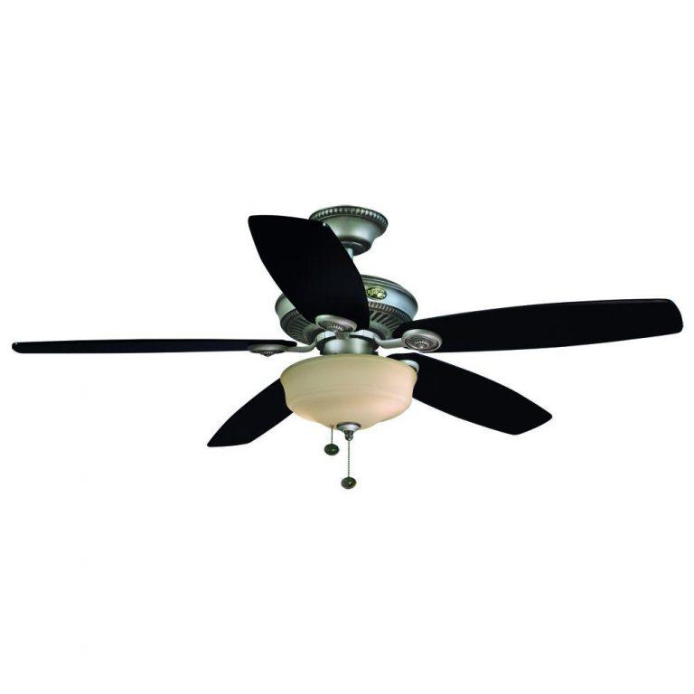 Hampton Bay Sibley Cambridge Silver Indoor Ceiling Fan Manual 1
