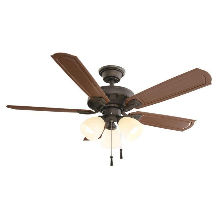 Hampton Bay Tucson Oil Rubbed Bronze Indoor/Outdoor Ceiling Fan with Shatter Resistant Light Shades Manual 1