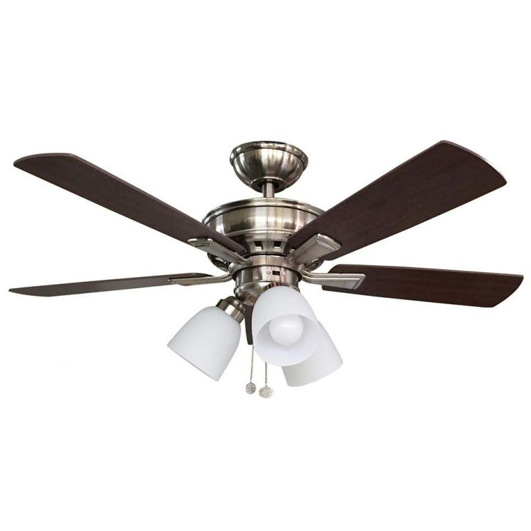 Hampton Bay Vaurgas LED Indoor Brushed Nickel Ceiling Fan Manual 1