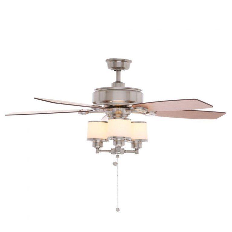 Hampton Bay Waterton II Brushed Nickel Ceiling Fan Manual 1