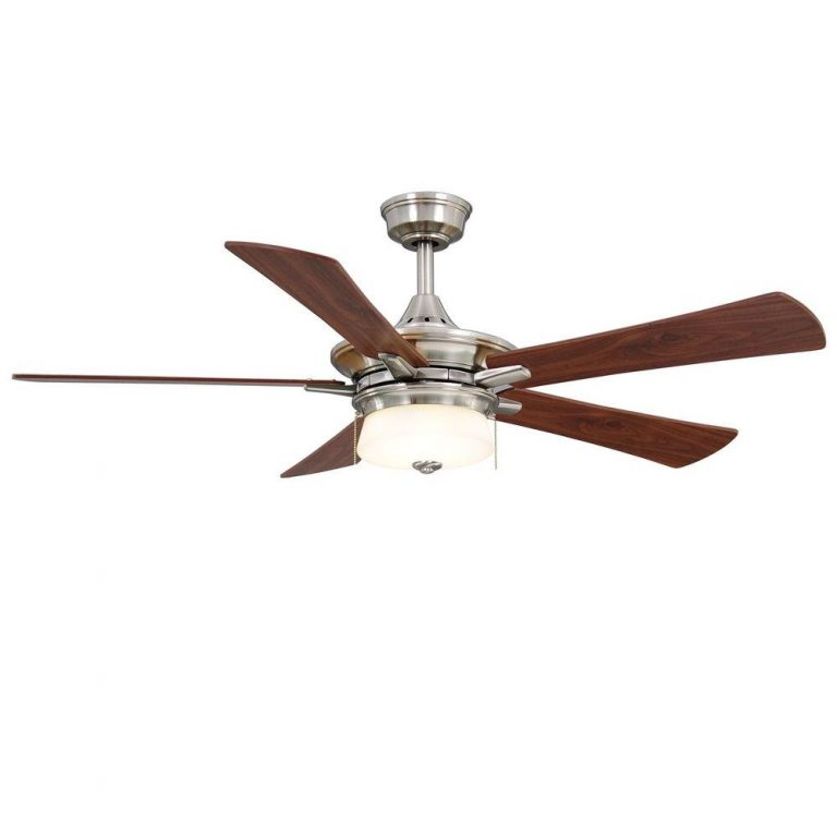 Hampton Bay Winthrop Brushed Nickel Ceiling Fan Manual 1