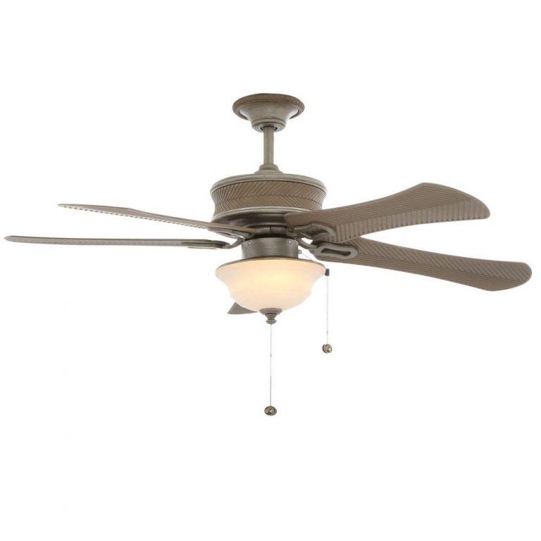 Hampton Bay Algiers Cambridge Silver Indoor/Outdoor Ceiling Fan Manual 1