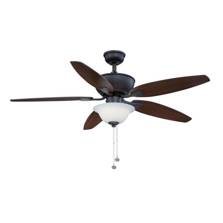 Hampton Bay Carrolton II LED Oil-Rubbed Bronze Ceiling Fan Manual 1