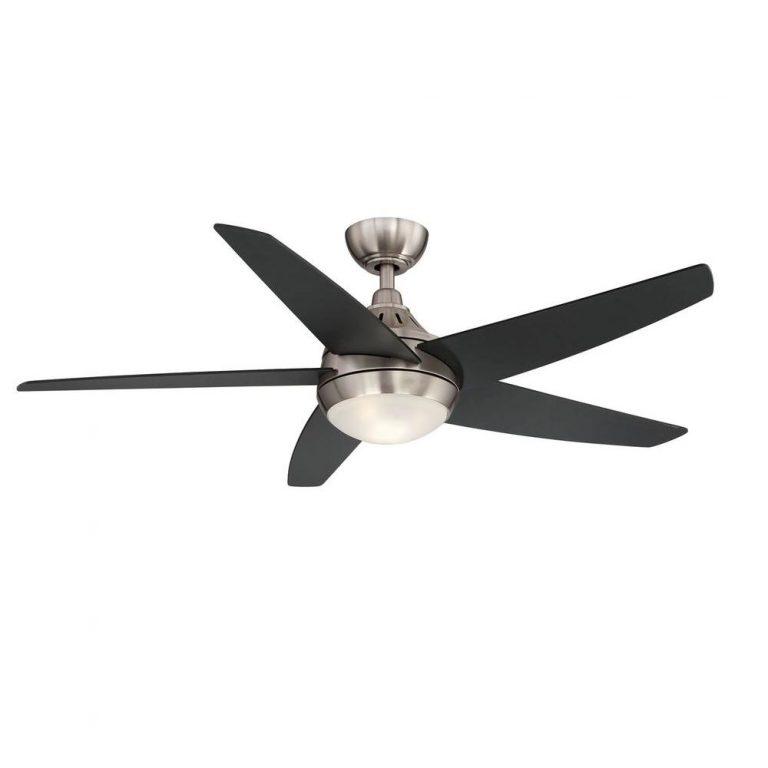 Hampton Bay Etris LED Brushed Nickel Ceiling Fan Manual 1