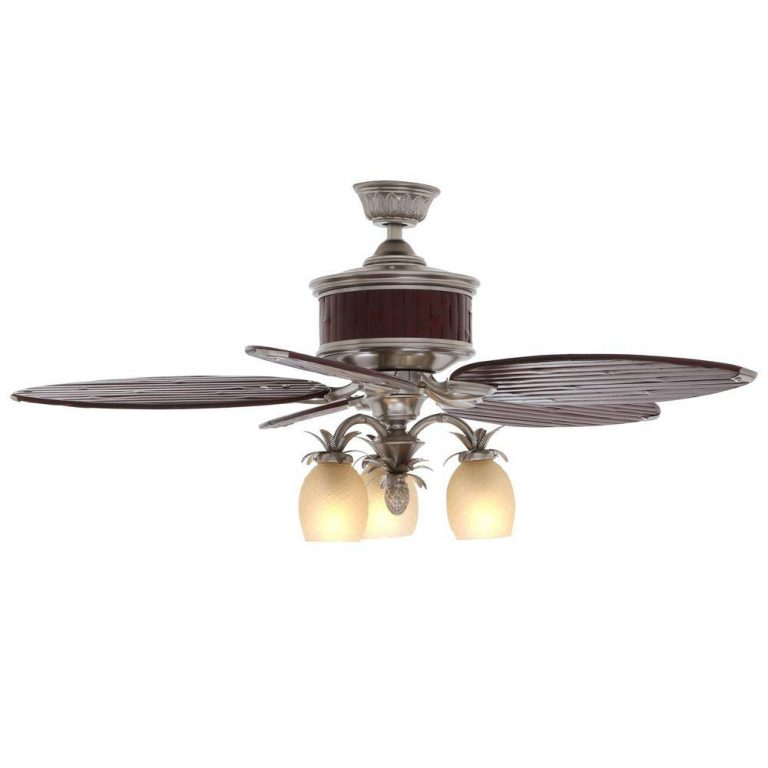 Hampton Bay Colonial Bamboo Pewter Ceiling Fan Manual Ceiling Fans Hq