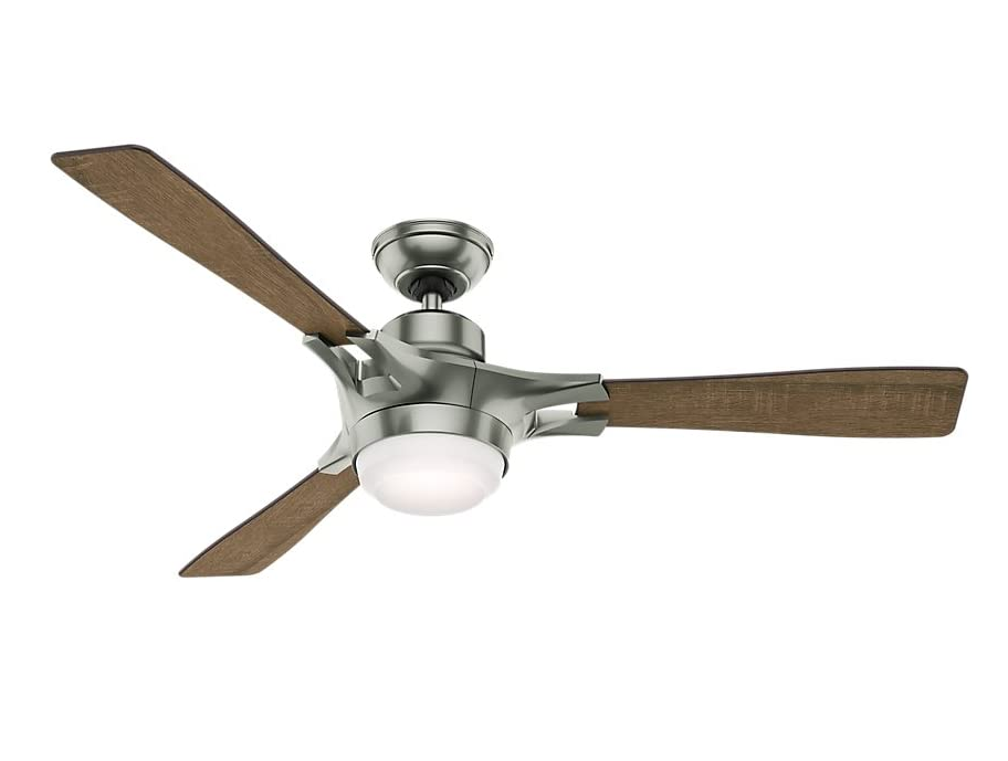 "Hunter 54"" Signal Wi-Fi Ceiling Fan in Satin Nickel"