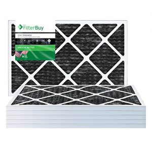 FilterBuy MERV 8 Pleated AC Furnace Air Filter with Activated Carbon